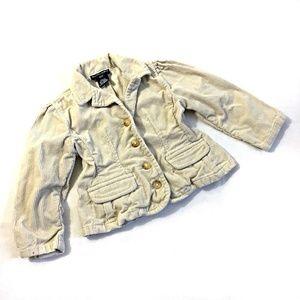 Ralph Lauren Toddler Girls Tan Corduroy Jacket 2T